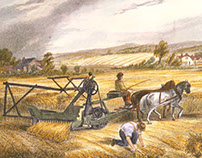 The Combine - A 19th-Century Innovation in Farm Tech
