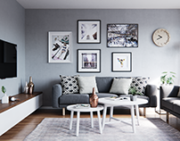 Small Scandinavian Apartment | CGI