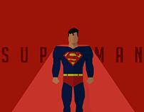 Superman in flat design