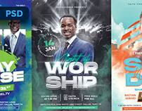 Church Flyer Designs - PSD Templates