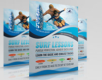Surf Training Flyer Template