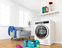 Bosch 3D Key visual - Clothes dryer for sportsmen