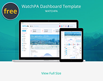 WatchPA Admin Dashboard Template Design #UI/UX