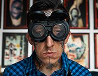 Portrait of Tattoo Artist in his Studio
