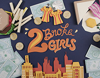 2 Broke Girls Paper Crafts