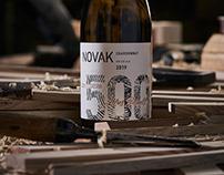 Limited Wine Series Label Design - Novak 500