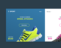 E-commerce Header: UI Element