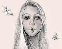 Mermaid (drawing) Digital Art