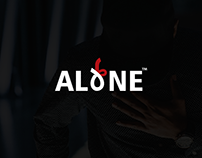 rebranding ALONE LOGO fashion company