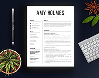 Resume Template - 1, 2 and 3 Pages Versions