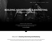 Layout Design in Monochrome for a Marketing Company in
