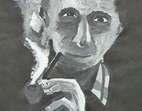 Portrait en acrylique format raisin