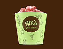 Mu Gelato italiano branding & illustration