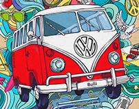 VOLKSWAGEN | Иллюстрация для граффити| «Bulli» graffiti
