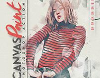 Canvas Paint Photoshop Action CS3+