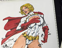 Power Girl (Copic Marker Test 2)