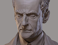 Peter Capaldi as Doctor Who - Sculpt and Print