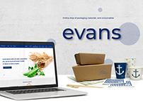 Evans - Web Design (Online shop)
