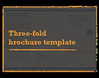 Three-fold brochure template