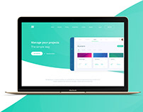 Landing page - Project management app
