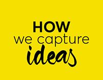 How we capture ideas Infographic