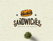 Sandwicher Fast Food - Logo