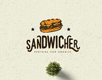 Sandwicher Fast Food - Logo