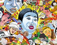 Food illustrations for KBS joy