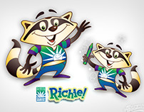 Richie Racoon Children's Hospital Character