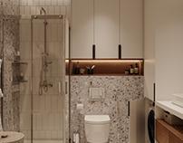 Interior 3D Render of Bathroom in Dallas, USA