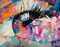 Око-флюорит / The eye-fluorite 120x100