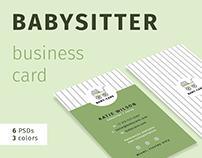 Business Card Template - Babysitter