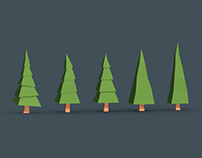 Low Poly Trees - Free Asset Pack