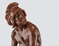 Chocolate statues
