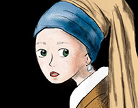 Girl with a pearl earring / la joven de la perla