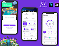 Hotel Booking App for Mobile UI Kit PSD