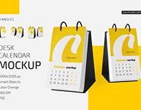 Desk Calendar v06 Mockup Set