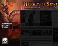 Heroes of Newerth Gamespot Takeover Ad