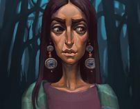 Sibyl | quick digital illustration