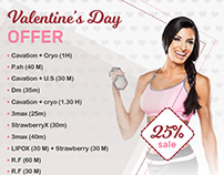 Bella vita valentine's offer-facebook post