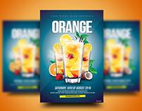 Orange Cocktail Flyer
