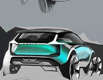 VOLVO compact SUV sketches