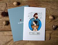 """I love you"" postcard"