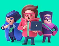 NAVER KiN 3D Character Branding