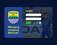 Web Login Screen Persib - UI UX Design