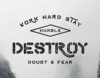 Vrsly App Typography Overlays