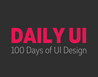 Daily UI | 100 Days of UI Design (ongoing)