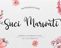 Free Font Suci Marwati