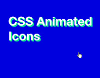 Animated CSS Icons | Little big details