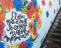 [Mural] Flowers&lettering